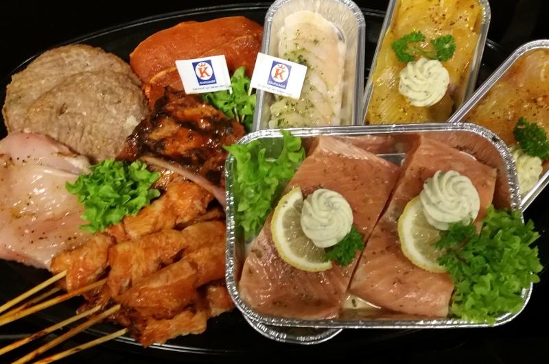 """Barbecue pakket """"Vlees/vis"""" (5 stuks vlees, uit variatie van 8)"""
