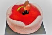 Dessert taartje aardbei