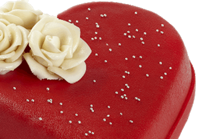Valentijn taart ca 8-10 personen
